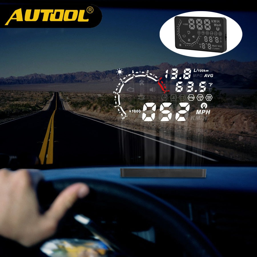 Digital Auto Speedometer Projection