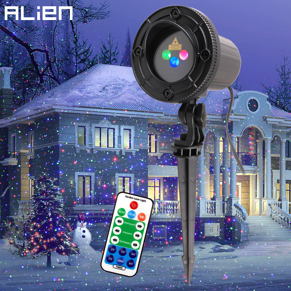 ALIEN Moving Static Dots Star Christmas Laser Light