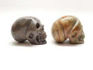Assorted Jasper Carved Skulls