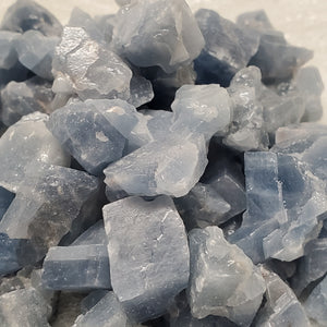 Blue Calcite Chips