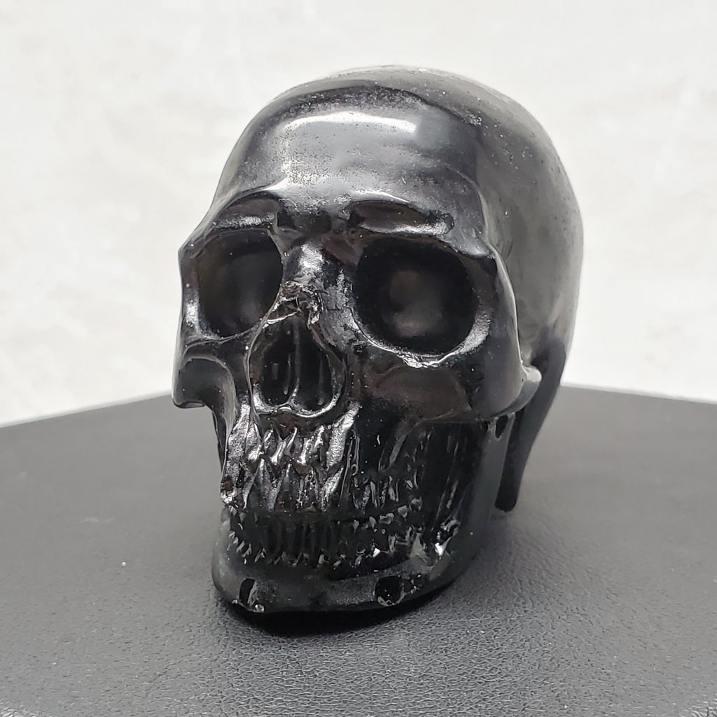 "2"" Black Obsidian Anatomical Skull"