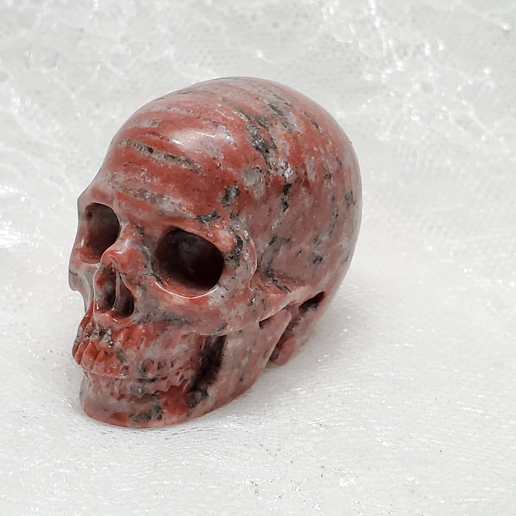 "2"" Red Eastern Jasper Anatomical Skull"