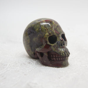Dragon Blood Jasper Skull 2""