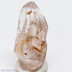 Unique Double Terminated Elestial Quartz Point with Phantom