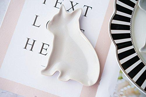 French Bulldog Figure die cut White small plate For You Frenchic
