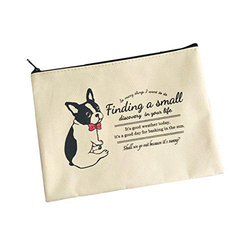 French Bulldog with ribon collar Zipper Pouch Bag For You Frenchic