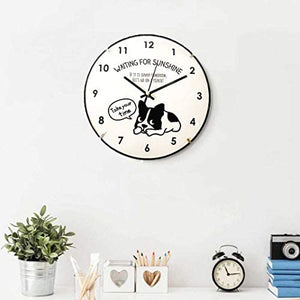 French Bulldog 8 inch Wall Clock Battery Operated Take Your Time: Home & Kitchen