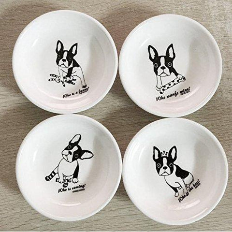 French Bull Dog Bully small plate saucer Pet 4 designs bone rabbit socks crown