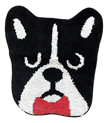 French Bulldog Black Head with Red Bow Tie Entrance Door Mat - Frenchic