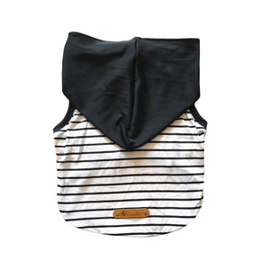 Black White Stripe With Black Hoodie New Collection Frenchic
