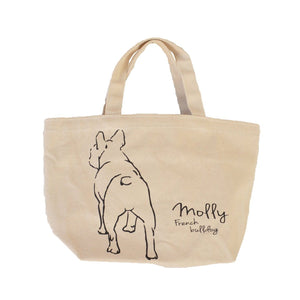 French bulldog French bulldog back body Canvas Bag for lunch or walking Organic color For You Frenchic