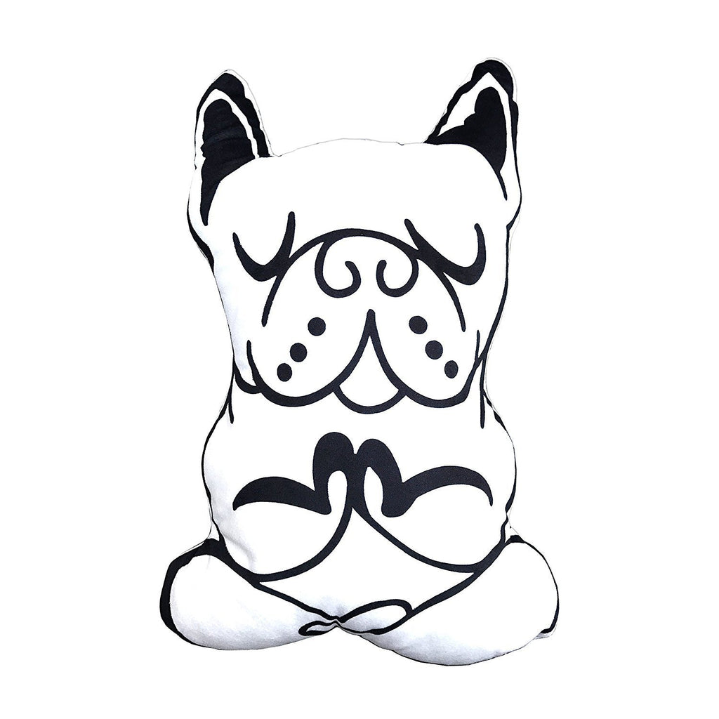 French Bulldog YOGA meditation White Cushion Pillow for Interior Chic Decoration New Collection Frenchic