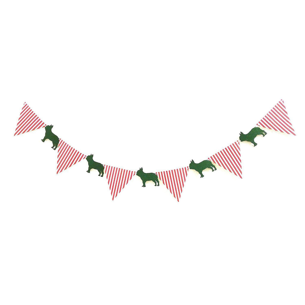 French bulldog Banners, Bunting & Garlands party flag Playroom Child's Room Decor on Wall - Frenchic
