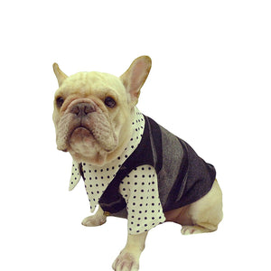 Frenchie Handmade Pet Clothing British Style Woolen Vest for French Bulldog or Pug Pet Wear Frenchic