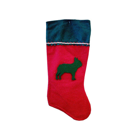 French Bulldog Pet Stocking Dog Animal Holiday Christmas Stocking Ornament