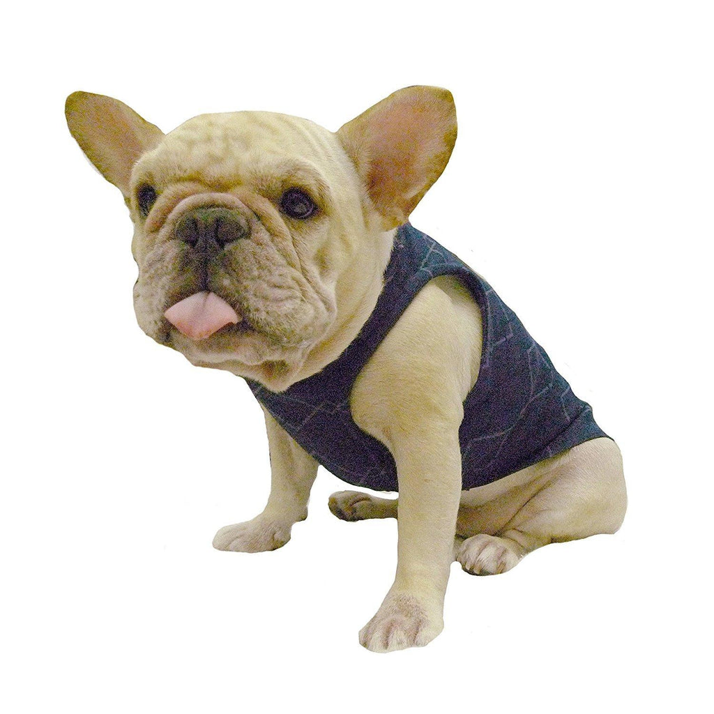 Frenchie Handmade Pet Clothing Blue Diamond Check for French Bulldog or Pug Wear For Pet Frenchic