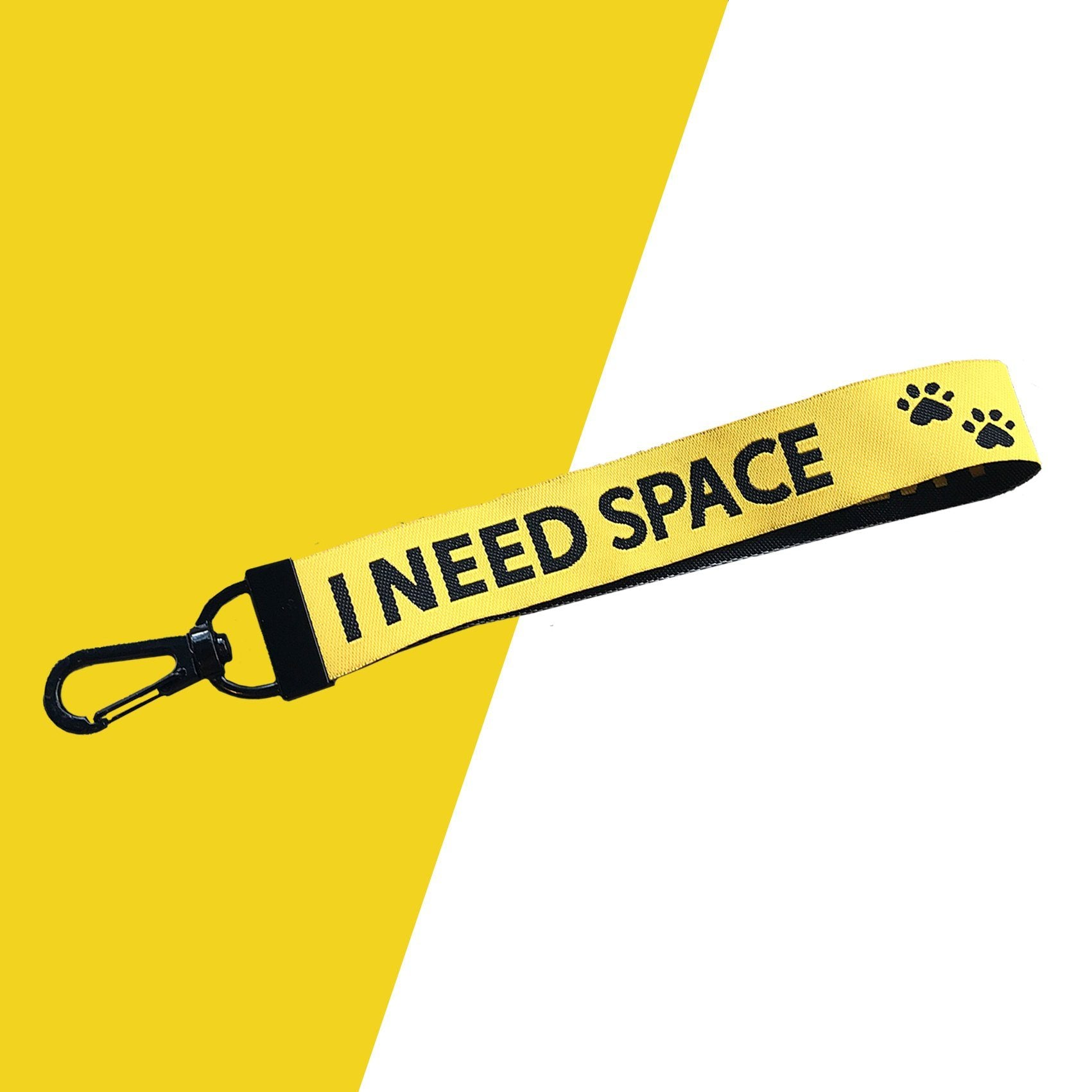 I Need Space Ribbon Key Chain a symbol on leash or collar for nervous dog walking playing toy outside stylish accessory bag backpack Lanyard New Collection Frenchic