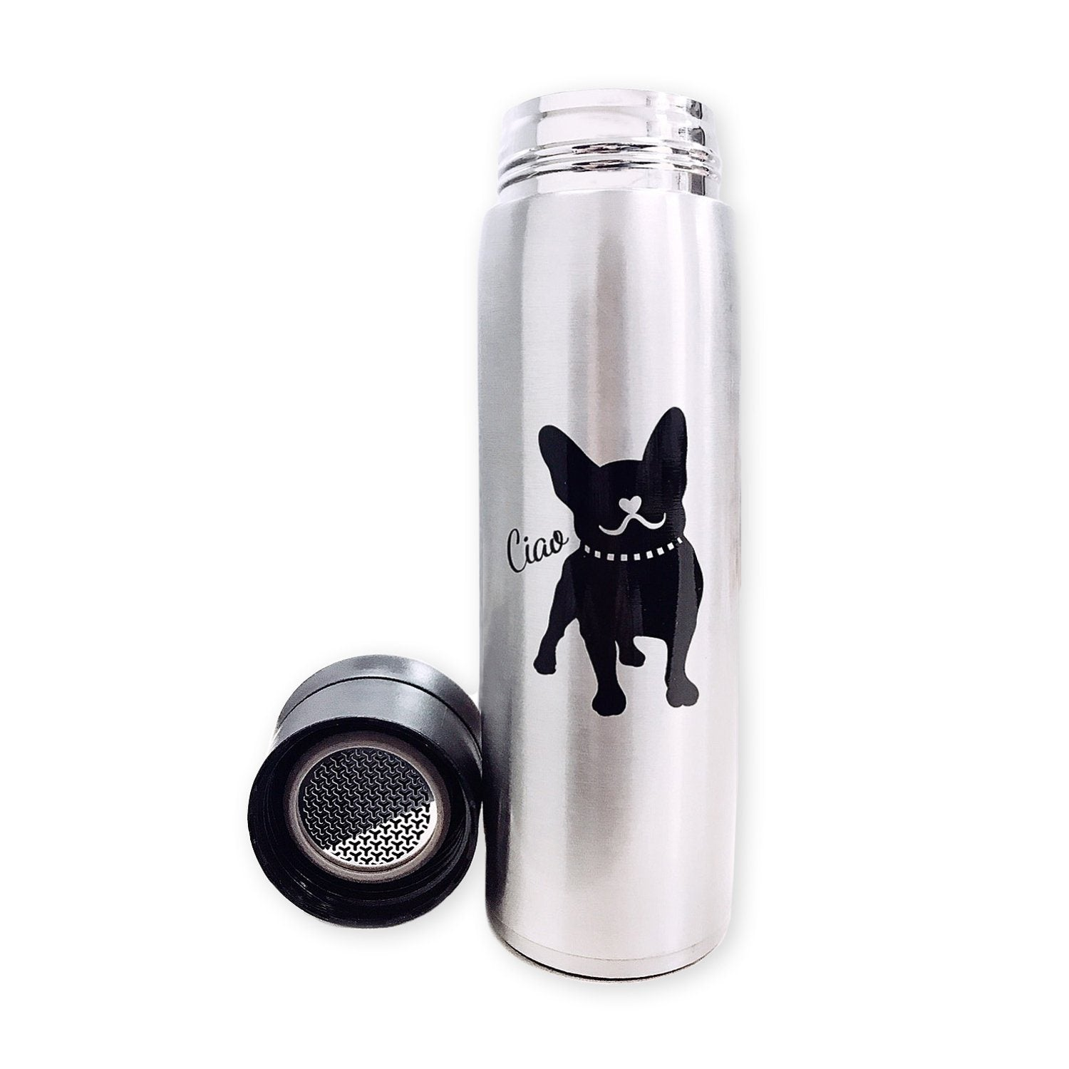 Frenchic French Bulldog Stainless Steel Thermos Bottle 17oz 500 ml Container For You Frenchic