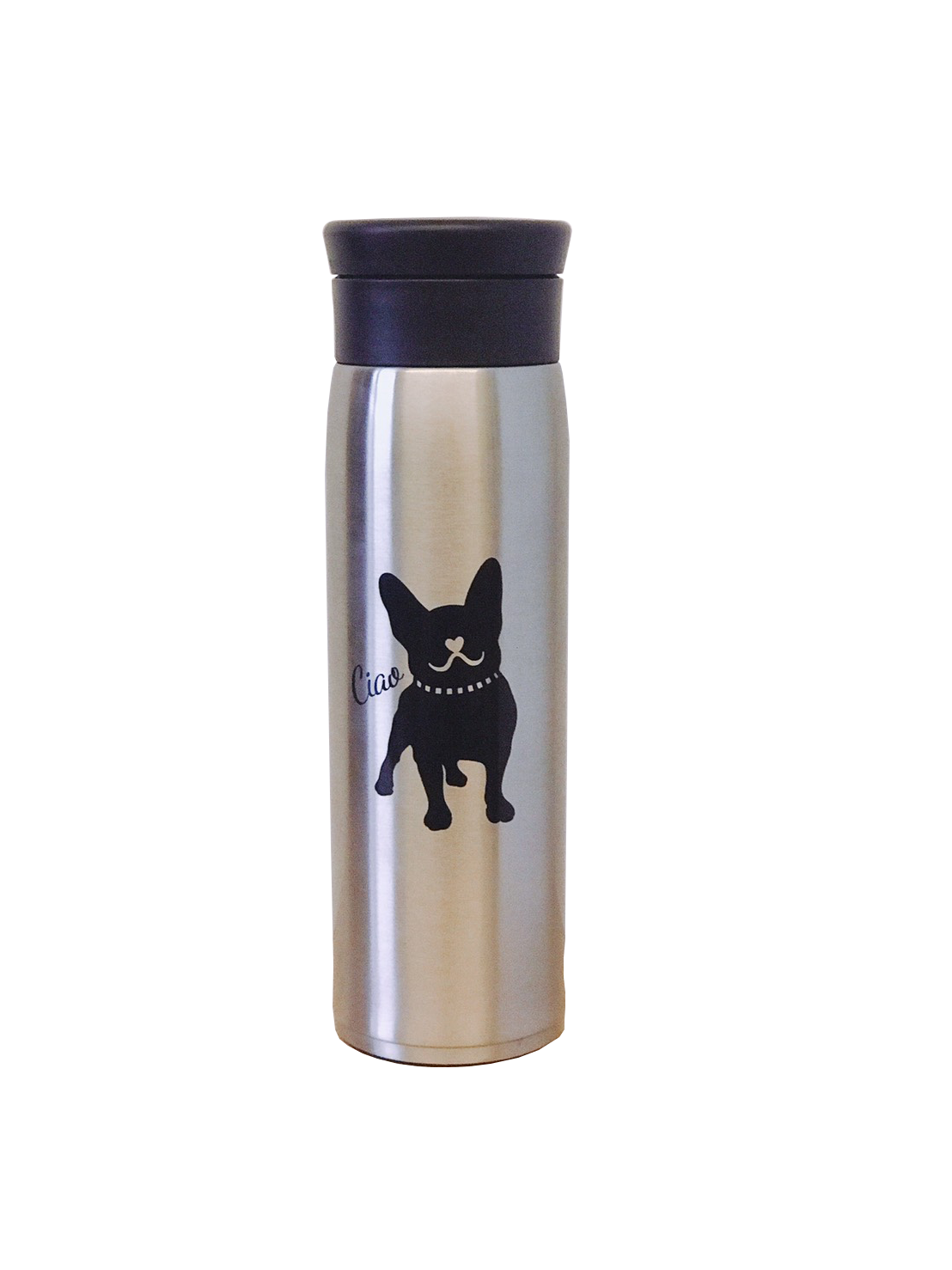 Frenchic French Bulldog Stainless Steel Thermos Bottle 17oz 500 ml Container