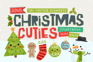 Christmas Cuties Illustration Mini-Pack