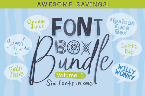 Font Box Bundle Volume 1