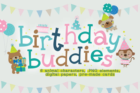Birthday Buddies Illustration Pack