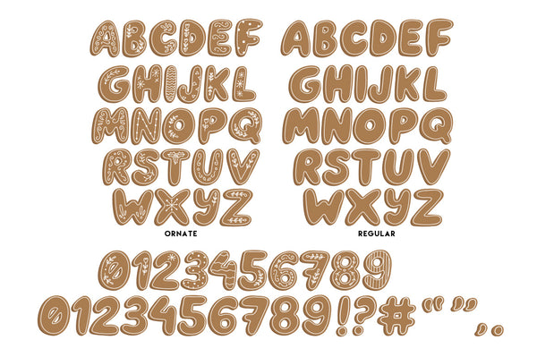 Gingerbread Letters graphics pack