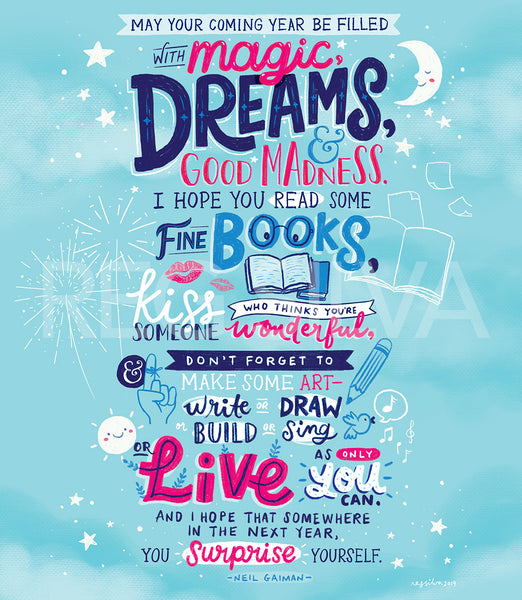 Magic, Dreams, and Good Madness 8 x 10 Downloadable Art Print