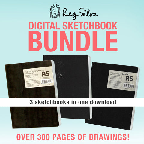 Digital Sketchbook Bundle Vol. 1
