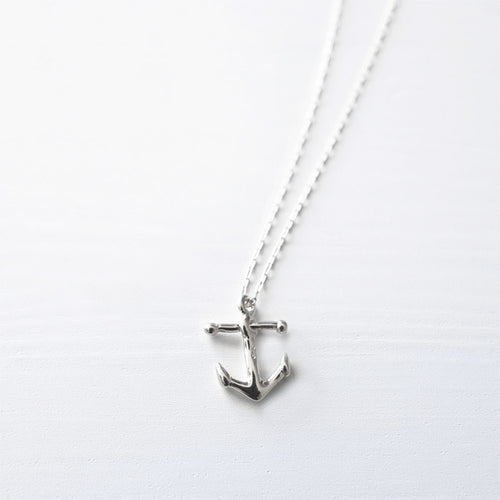 Anchor Necklace . Sterling Silver