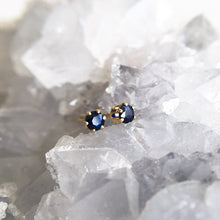 blue sapphire studs 3mm gold filled shazoey crystal