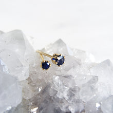2mm 3mm blue sapphire single stud gold shazoey crystal