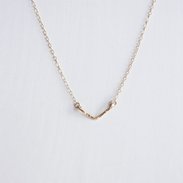 chevron necklace gold v shazoey
