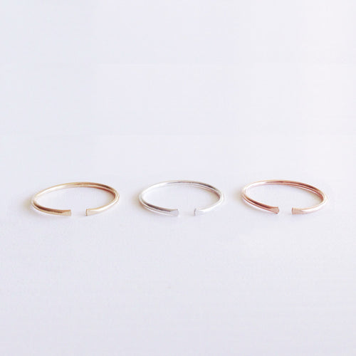 cuff stack rings gold sterling silver rose gold shazoey