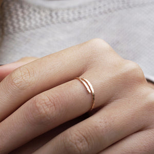 handmade stack ring gold filled shazoey australia