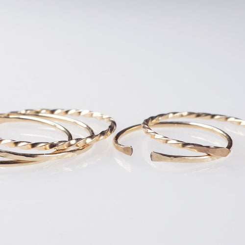 gold filled stack rings gift set shazoey australia