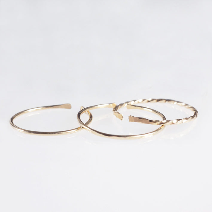gold cuff stack rings shazoey australia