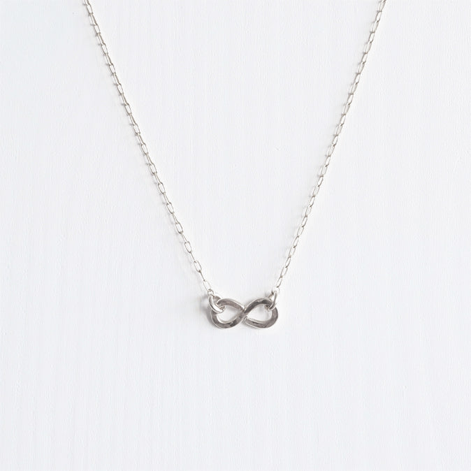 sterling silver infinity necklace shazoey