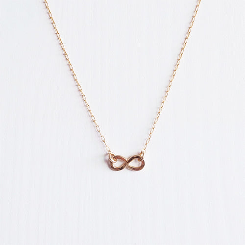 infinity rose gold necklace shazoey