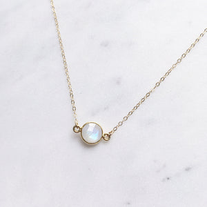 rainbow moonstone necklace gold shazoey