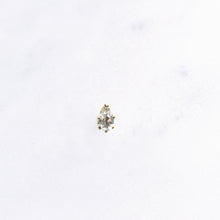 white topaz teardrop single stud gold shazoey