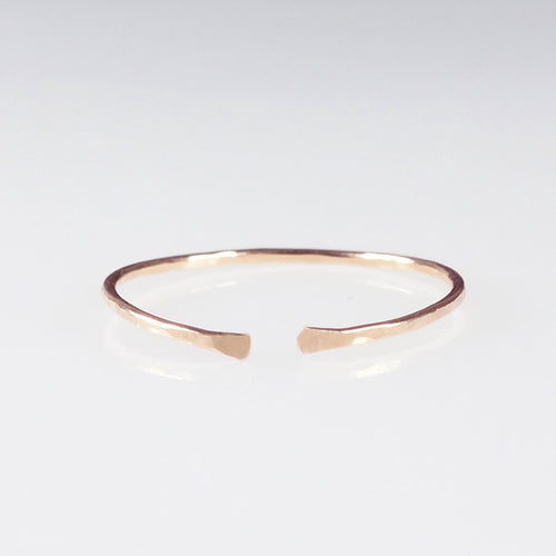 rose gold cuff stack ring shazoey