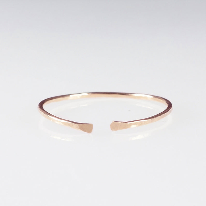 rose gold fine stacking ring shazoey
