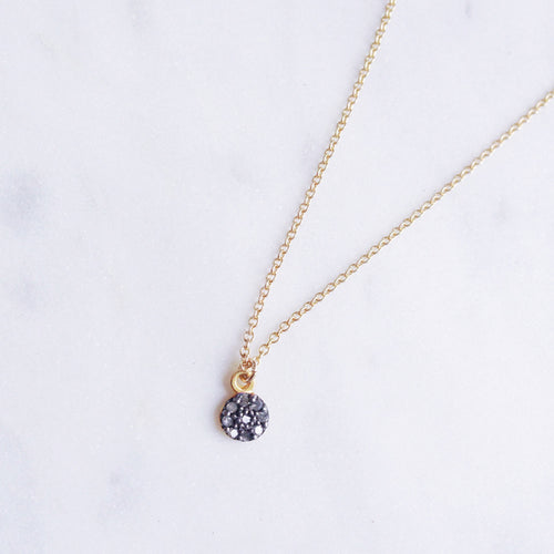 gold rough diamond necklace pave shazoey