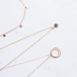 rough diamond gold necklaces rose gold shazoey