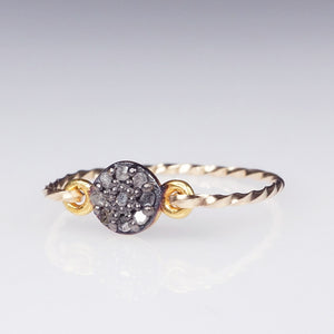 rough diamond ring gold filled shazoey