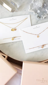 SHAZOEY handmade initial necklaces in Sydney Australia in the signature gift box