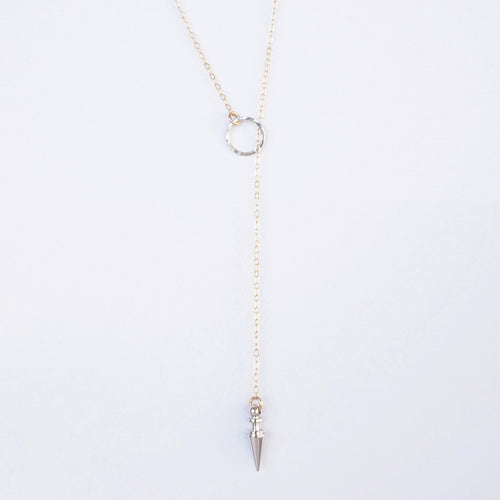 sterling silver gold lariat necklace shazoey