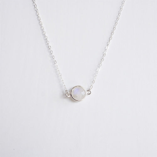 sterling silver moonstone necklace shazoey