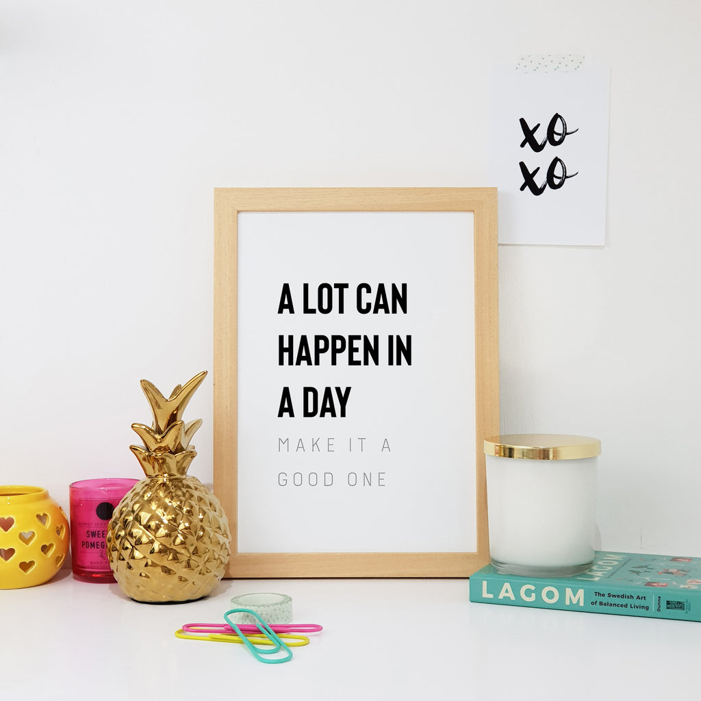 A Lot Can Happen In A Day Wall Art Print